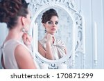 fashion portrait of young... | Shutterstock . vector #170871299