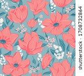 flowers seamless pattern. tile...   Shutterstock .eps vector #1708732864