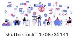 vector illustration of office... | Shutterstock .eps vector #1708735141