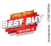 only new best buy up to 50  off ... | Shutterstock .eps vector #1708738564
