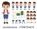 school boy character creation ...   Shutterstock .eps vector #1708754674