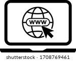 lap top icon. vector... | Shutterstock .eps vector #1708769461