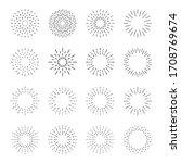 sunburst set. big collection... | Shutterstock .eps vector #1708769674