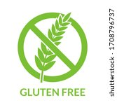 gluten fee icon. healthy food...   Shutterstock .eps vector #1708796737