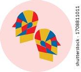 gemini zodiac symbol vector....   Shutterstock .eps vector #1708811011