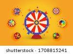 fortune wheels set for web... | Shutterstock .eps vector #1708815241
