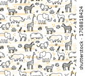 Cute Seamless Pattern With Lin...