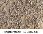 Gravel  Pebbles And Sand Closeup