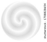 lines in circle form . spiral... | Shutterstock .eps vector #1708828654