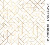 golden art deco seamless... | Shutterstock .eps vector #1708831924