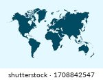 world map color vector modern | Shutterstock .eps vector #1708842547