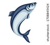 illustration of herring fish.... | Shutterstock .eps vector #1708845424