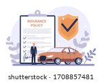 car insurance concept. idea of... | Shutterstock .eps vector #1708857481