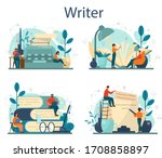 professional writer or... | Shutterstock .eps vector #1708858897