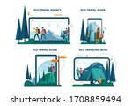 eco tourism and eco traveling... | Shutterstock .eps vector #1708859494