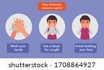 coronavirus protection...   Shutterstock .eps vector #1708864927
