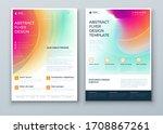 liquid abstract flyer design.... | Shutterstock .eps vector #1708867261