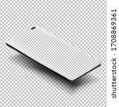 smartphone mockups isolated... | Shutterstock .eps vector #1708869361