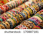 many fashion colorful bracelets | Shutterstock . vector #170887181