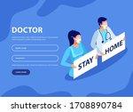 stay home motivational banner.  ...   Shutterstock .eps vector #1708890784