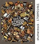 cartoon vector doodles school...   Shutterstock .eps vector #1708901461