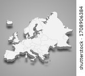 3d map of europe with borders | Shutterstock .eps vector #1708906384