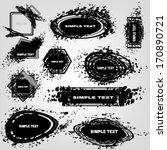 set design grunge elements.... | Shutterstock .eps vector #170890721