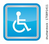 handicap or wheelchair person ... | Shutterstock .eps vector #170891411