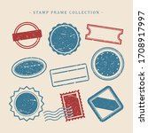 stamps design collection  ... | Shutterstock .eps vector #1708917997