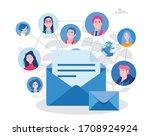 business email marketing... | Shutterstock .eps vector #1708924924