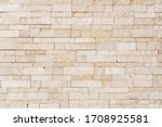Old Grunge Brown Stone Brick...