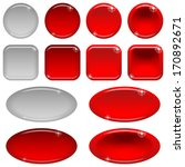 set of glass red buttons ... | Shutterstock . vector #170892671