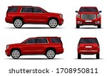 realistic suv car. front view ... | Shutterstock .eps vector #1708950811