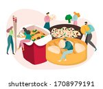 chinese food concept  tiny... | Shutterstock .eps vector #1708979191