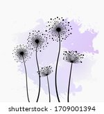 Stylized Dandelions On Colored...