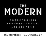 vector of stylized modern font... | Shutterstock .eps vector #1709006317