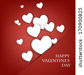 heart from paper valentines day ... | Shutterstock .eps vector #170900825