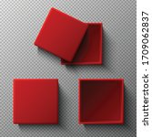 3d realistic vector mock up red ... | Shutterstock .eps vector #1709062837