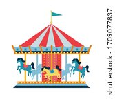Carousel With Horses Or Merry...