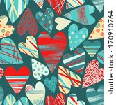 set with  bright hearts.... | Shutterstock .eps vector #170910764