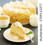 Classic Russian Cake Napoleon.  ...