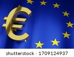 Eur Euro Currency Sign With...