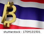 Thb Thai Baht Currency Sign On...