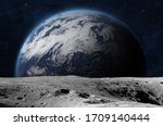 The Earth From Moon Surface....
