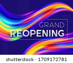 grand reopening typographic...   Shutterstock .eps vector #1709172781
