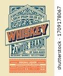 vintage liquor label. vector... | Shutterstock .eps vector #1709178067