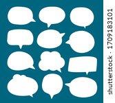 set of blank white speech... | Shutterstock .eps vector #1709183101