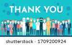postcard. thank you. thanks for ... | Shutterstock .eps vector #1709200924