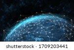 global network modern creative...   Shutterstock . vector #1709203441