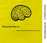 human brain on yellow... | Shutterstock .eps vector #170921441
